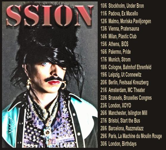Going on Tour in Europe in June w/ Ssion